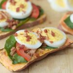 Egg Topped Sweet Potato Toast